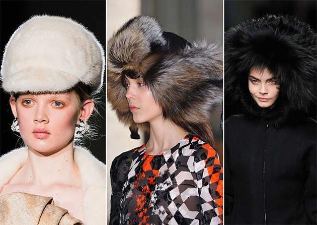 Модные меховые шапки